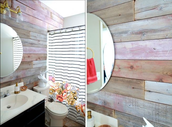 bathroom redo modern coral and gold bathroom with