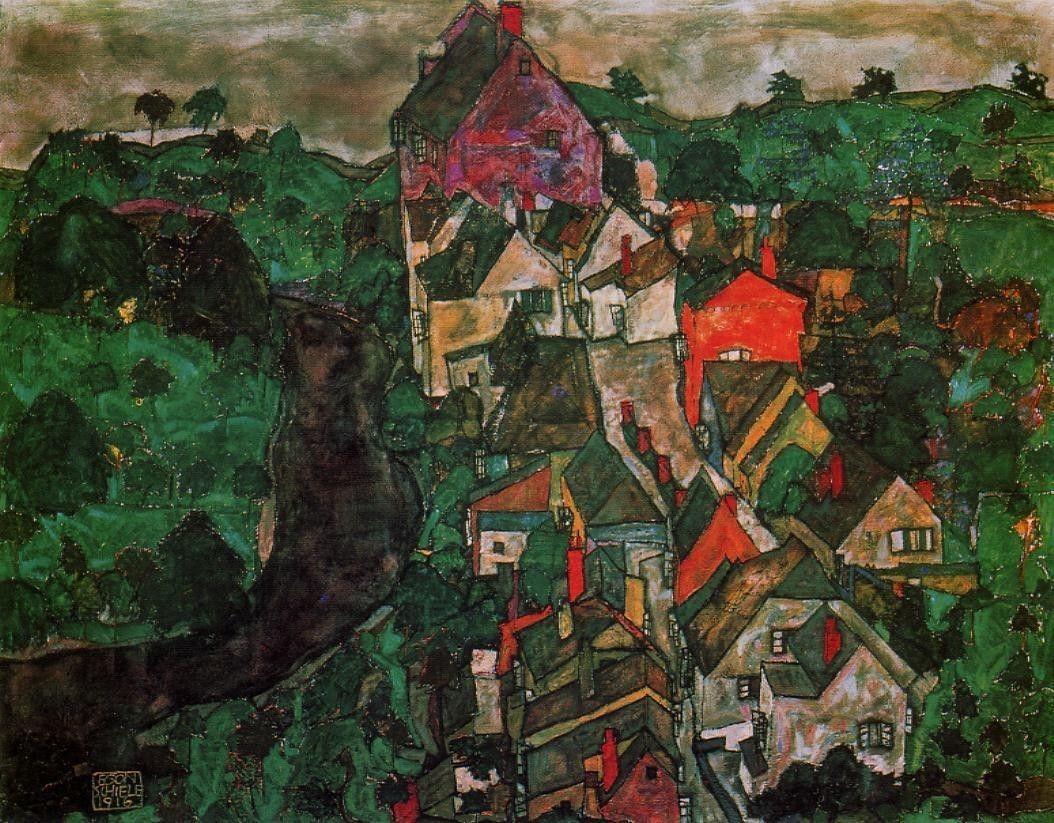 Landscape, egon schiele