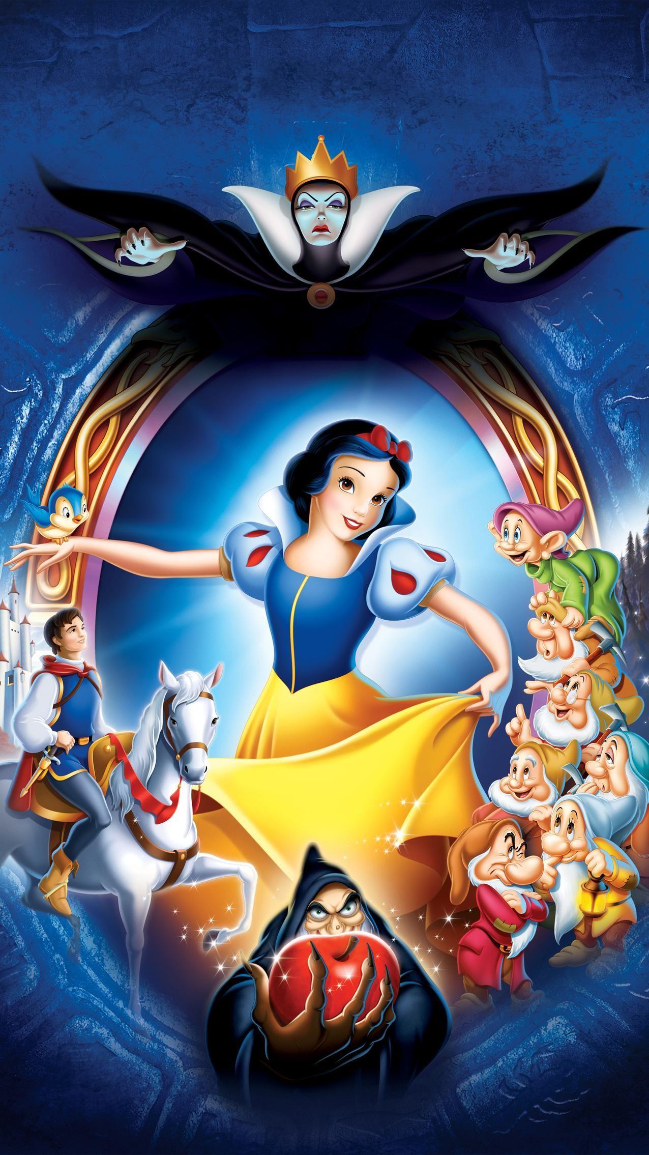 Snow White And The Seven Dwarfs 1937 Phone Wallpaper Moviemania Snow White Movie Snow White Disney Princess Fan Art