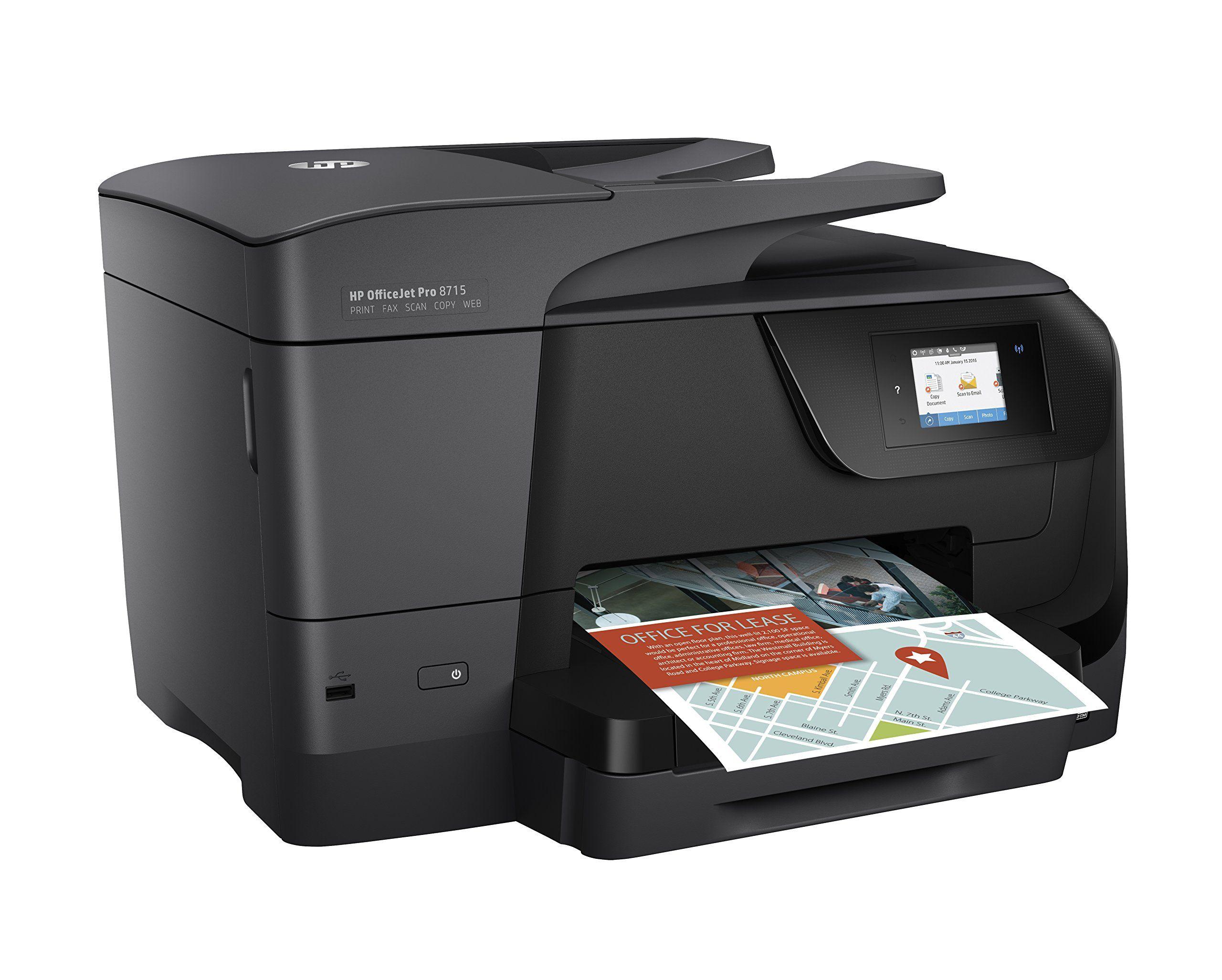 Hp Officejet Pro 8715 Allinone Multifunction Printer Thermal Inkjet Print Copy Scanner Fax Be Sure To Check Out T Hp Officejet Pro Hp Officejet Hp Printer