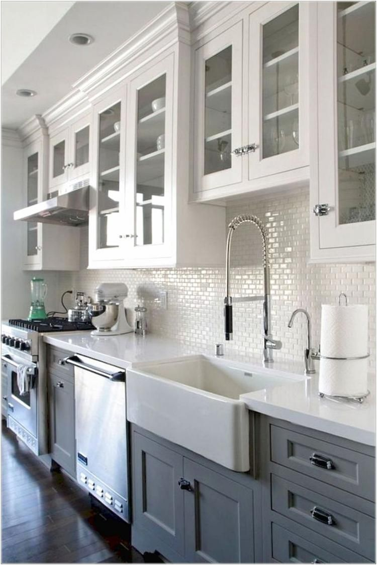 Best Rustic Kitchen Cabinets Ideas In 9   White kitchen design ...