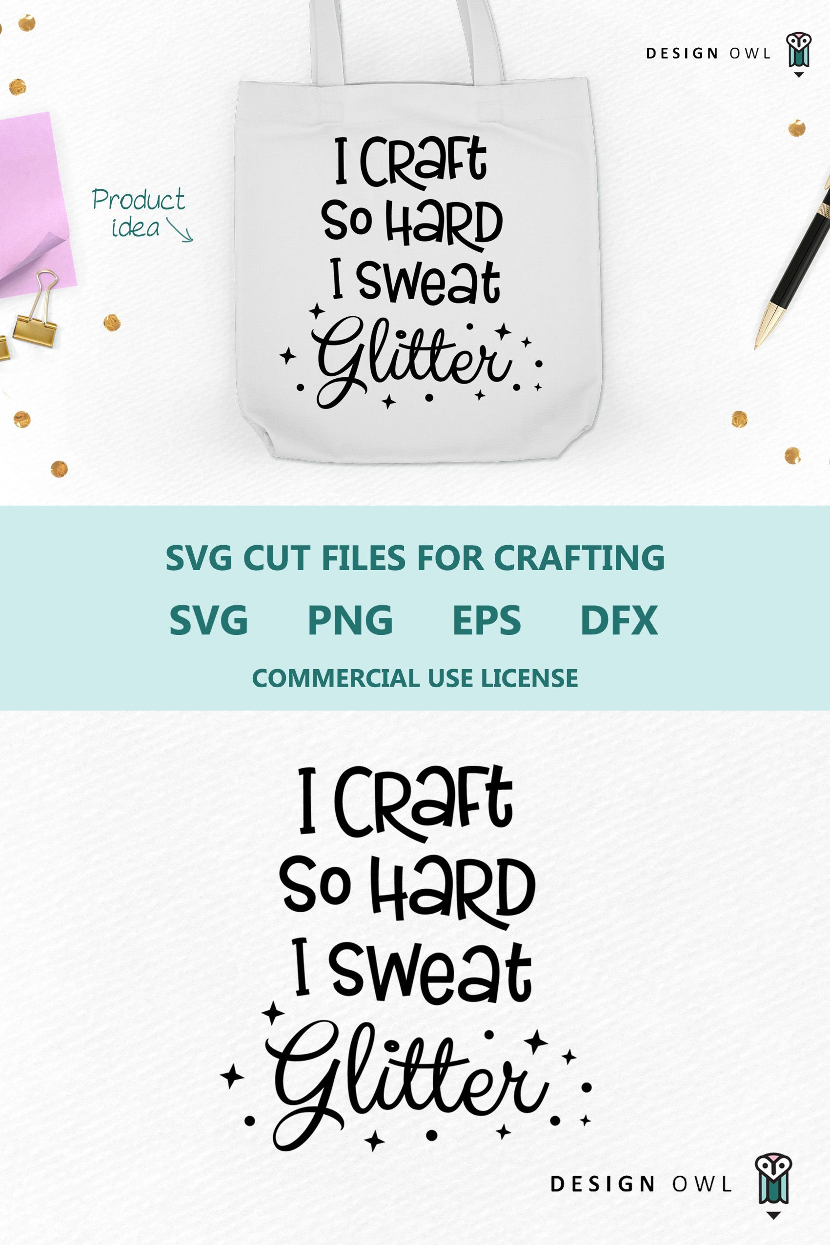 I Craft So Hard I Sweat Glitter Funny Craft Svg File Tote Bag By Design Owl Affiliate Link In 2020 Craft Quotes Svg Svg Quotes