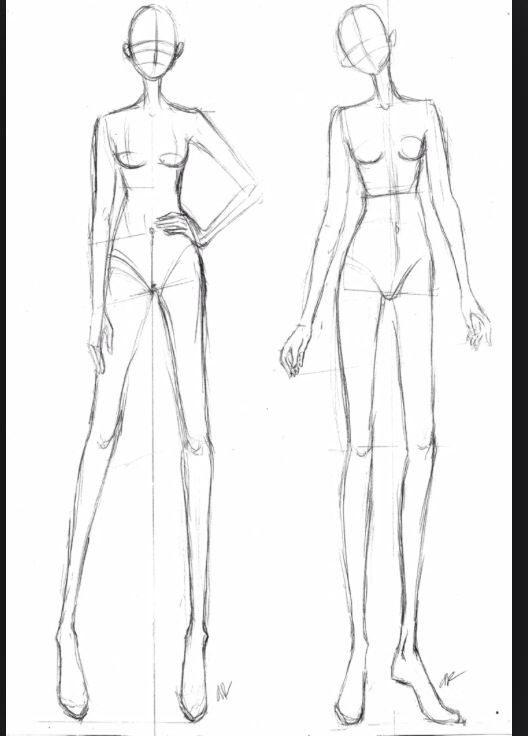 Mannequins Fashion Illustration Template Fashion Design Template Fashion Illustration Sketches