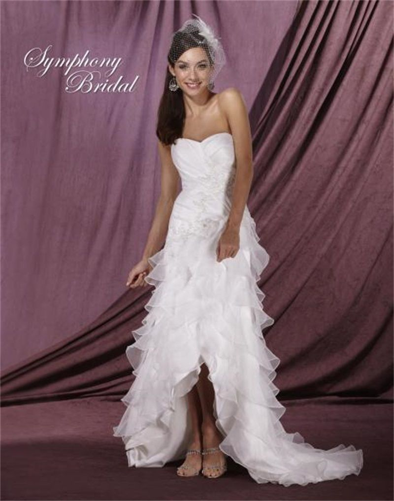 Cheap high low wedding dresses  Click to Buy ucuc High Quality High Low Wedding Dress  Sweetheart