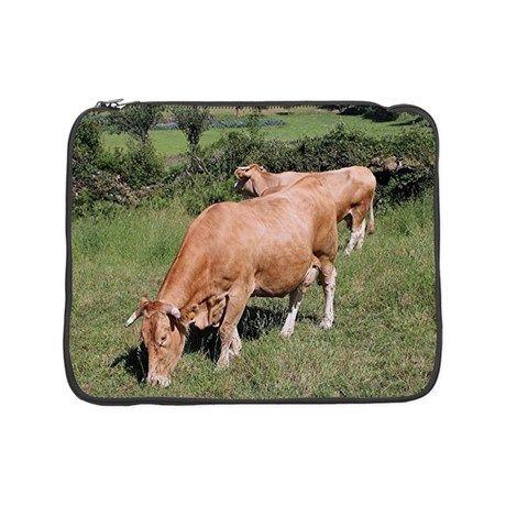 "Cows in field on El Camino, Spai 15"" Laptop Sleeve on CafePress.com"