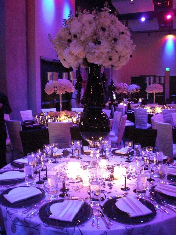 Black And Purple Wedding Decorations