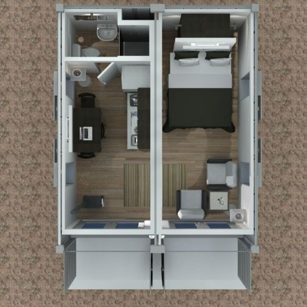 Shipping Container Cabin Concept Part 3 Tiny House Design Casas Plantas Pinterest