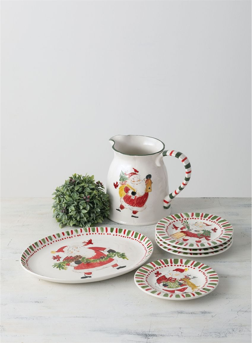 Wholesale Simply Santa Platter Home Decor Multicolor Dinnerware Plates Mugs Etc Sullivans Sugar Bowl Set Platters Dinnerware
