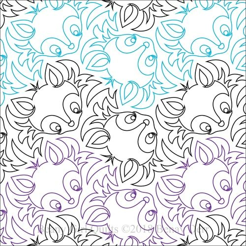 Foxy Paper Machine Quilting Pattern by Beany Girl Quilts ...