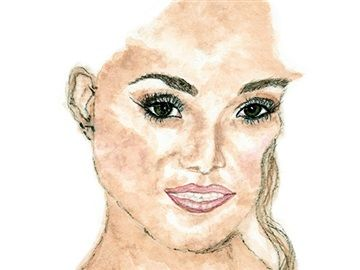 SERIES: I am not my hair! TITLE: Leticia MEDIUM: Watercolour