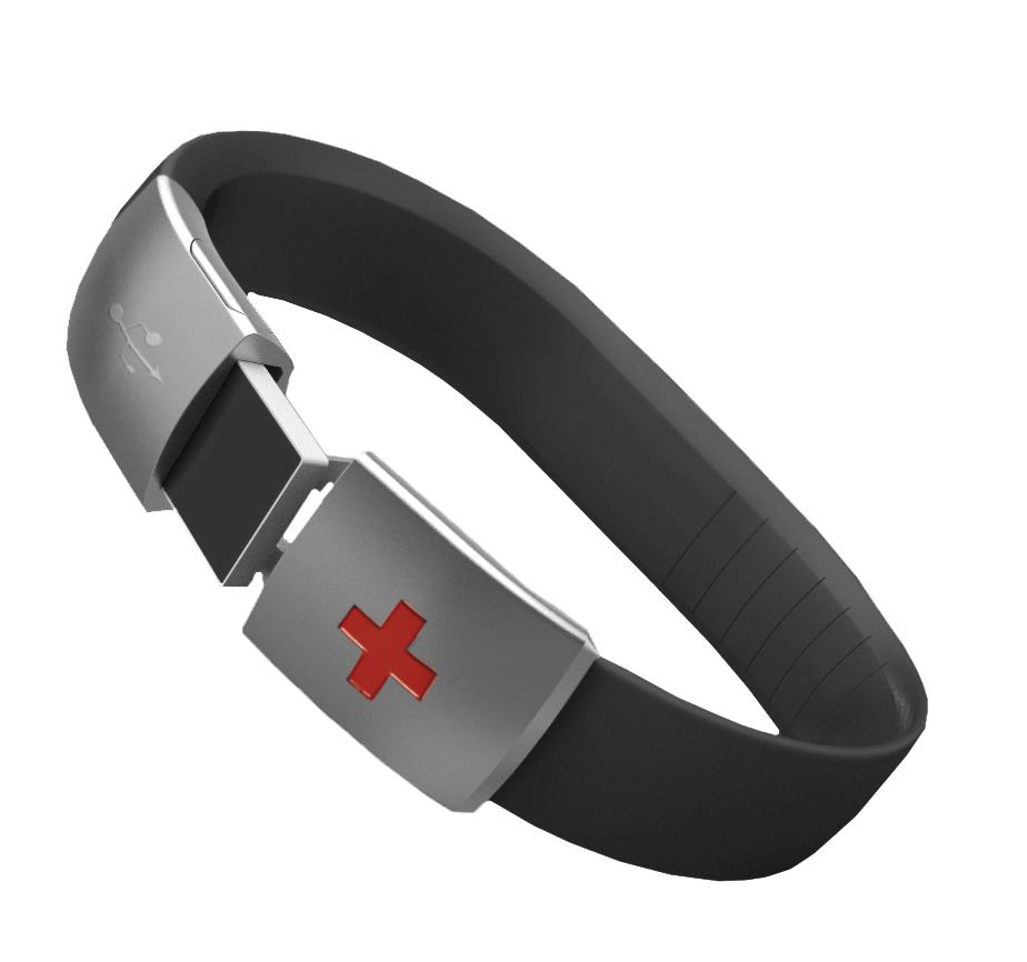 Epic Id Waterproof Usb Medical Alert Bracelet