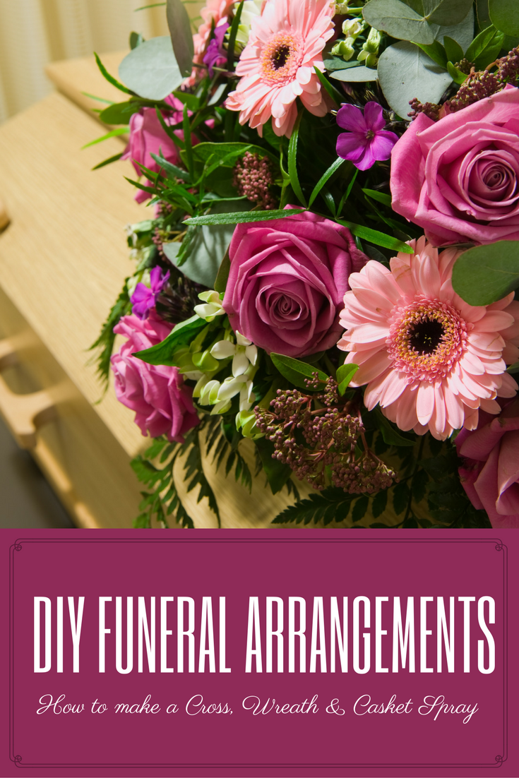 How to arrange funeral flowers floral pinterest funeral diy funeral arrangements learn how to make your own funeral cross funeral wreath and casket spray izmirmasajfo