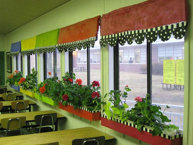 Window Decoration Ideas For Classroom : Art room windows window box and