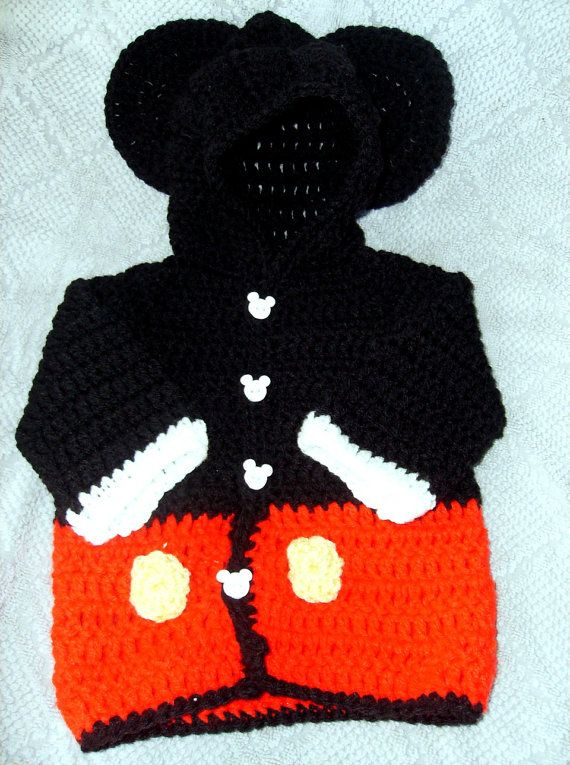 Custom Order for carolporac Baby Mickey Mouse Hoody Sweater hand ...