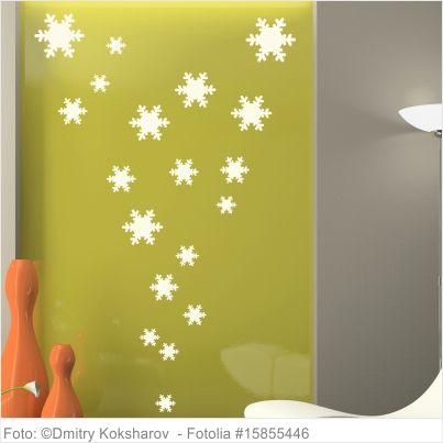 Wandtattoo Weihnachten - Schneeflocken 40er Set Wandtattoo - wandtattoo für badezimmer