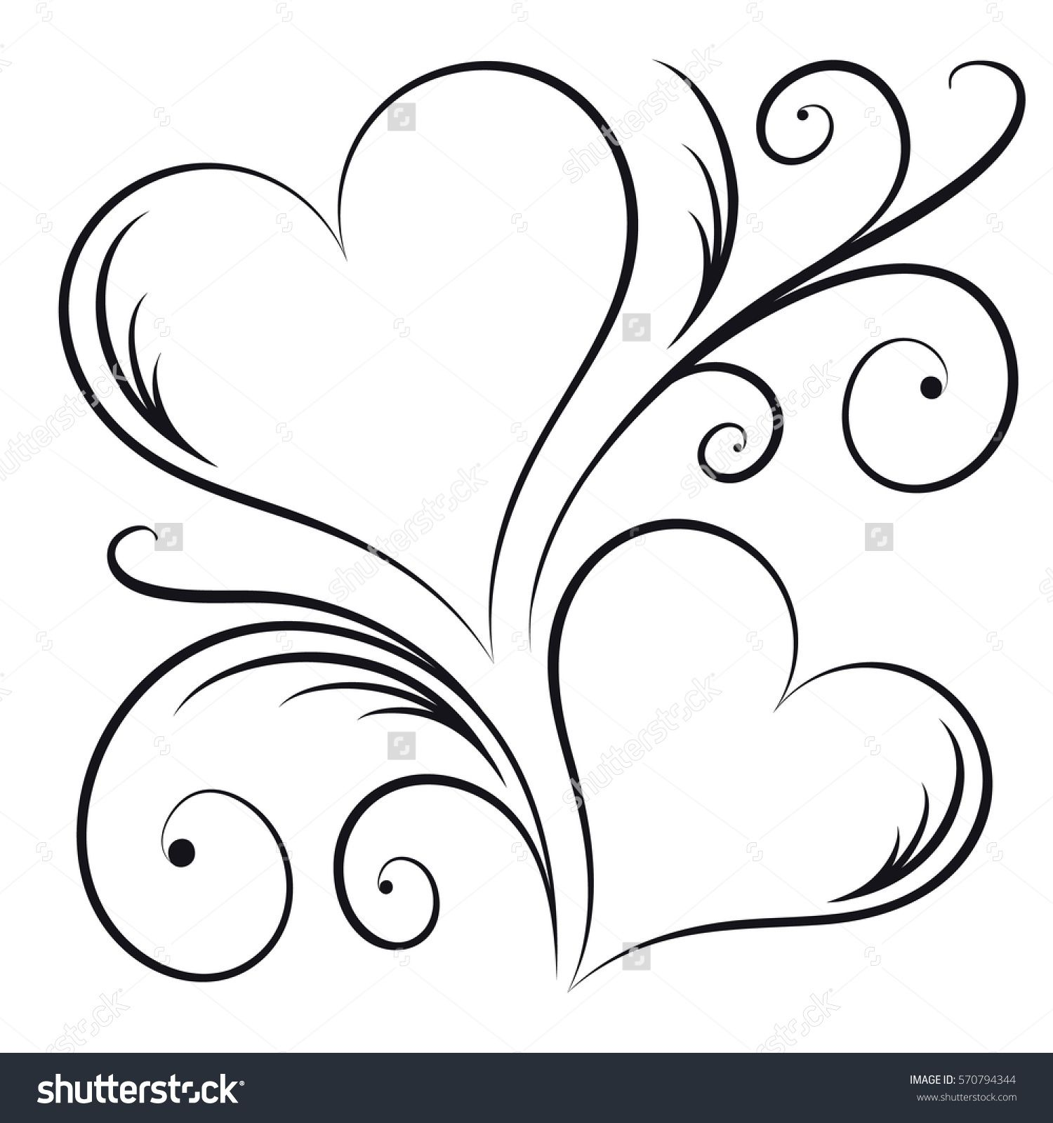 Two Hearts Swirl Elements Stock Vector (Royalty Free) 570794344 is part of Heart tattoo designs - Find Two Hearts Swirl Elements stock images in HD and millions of other royaltyfree stock photos, illustrations and vectors in the Shutterstock collection   Thousands of new, highquality pictures added every day