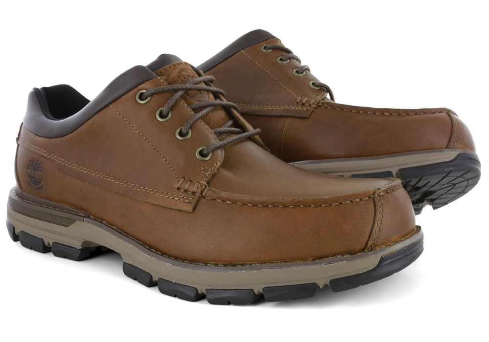 17c8ddf0c1 Men s TIMBERLAND Heston Low Waterproof Moc Oxford Light Brown Shoe A118W 8.5M   Timberland  Oxfords