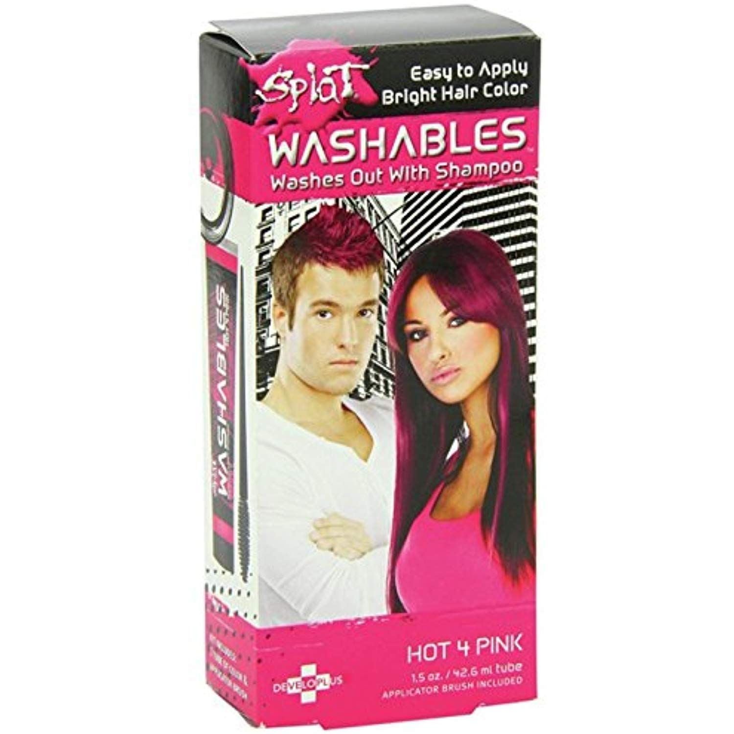 Splat Hair Color Bright Hot 4 Pink 1 5oz 42 6ml To View Further For This Item Visit The Image Link Thi Splat Hair Color Hair Color Washable Hair Color