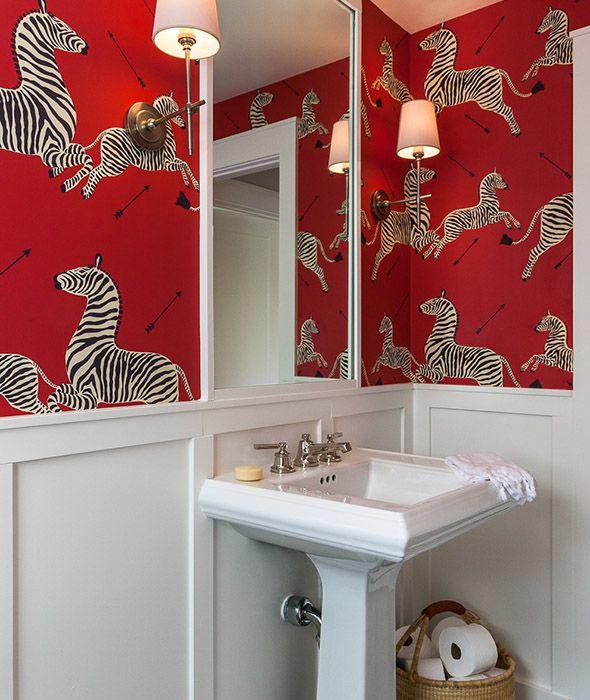 Pin On Boho Style Red and zebra bathroom decor