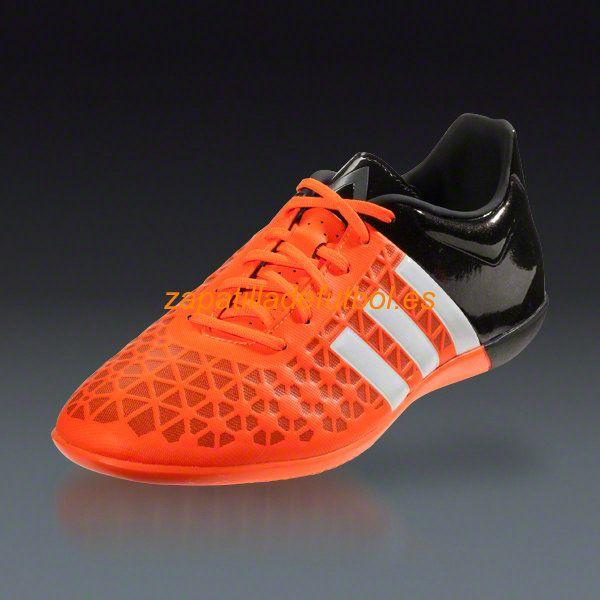 half off 1ab33 09fcc Zapatillas de futbol sala Adidas Ace 15.3 IN Blanco Negro Naranja
