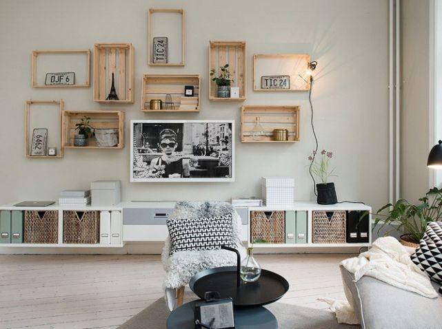 20 idées déco avec des cagettes en bois elle décoration