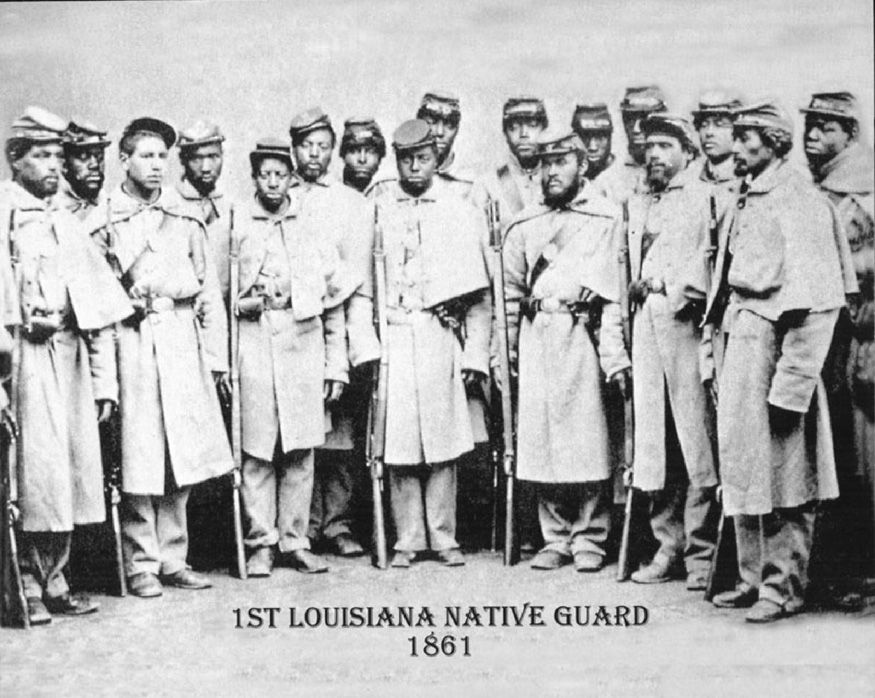 Louisiana native guard was one of the first all black regiments to original photograph of the union united states colored troops company c or g camp william penn in february 1864 source people of the university of fandeluxe Choice Image