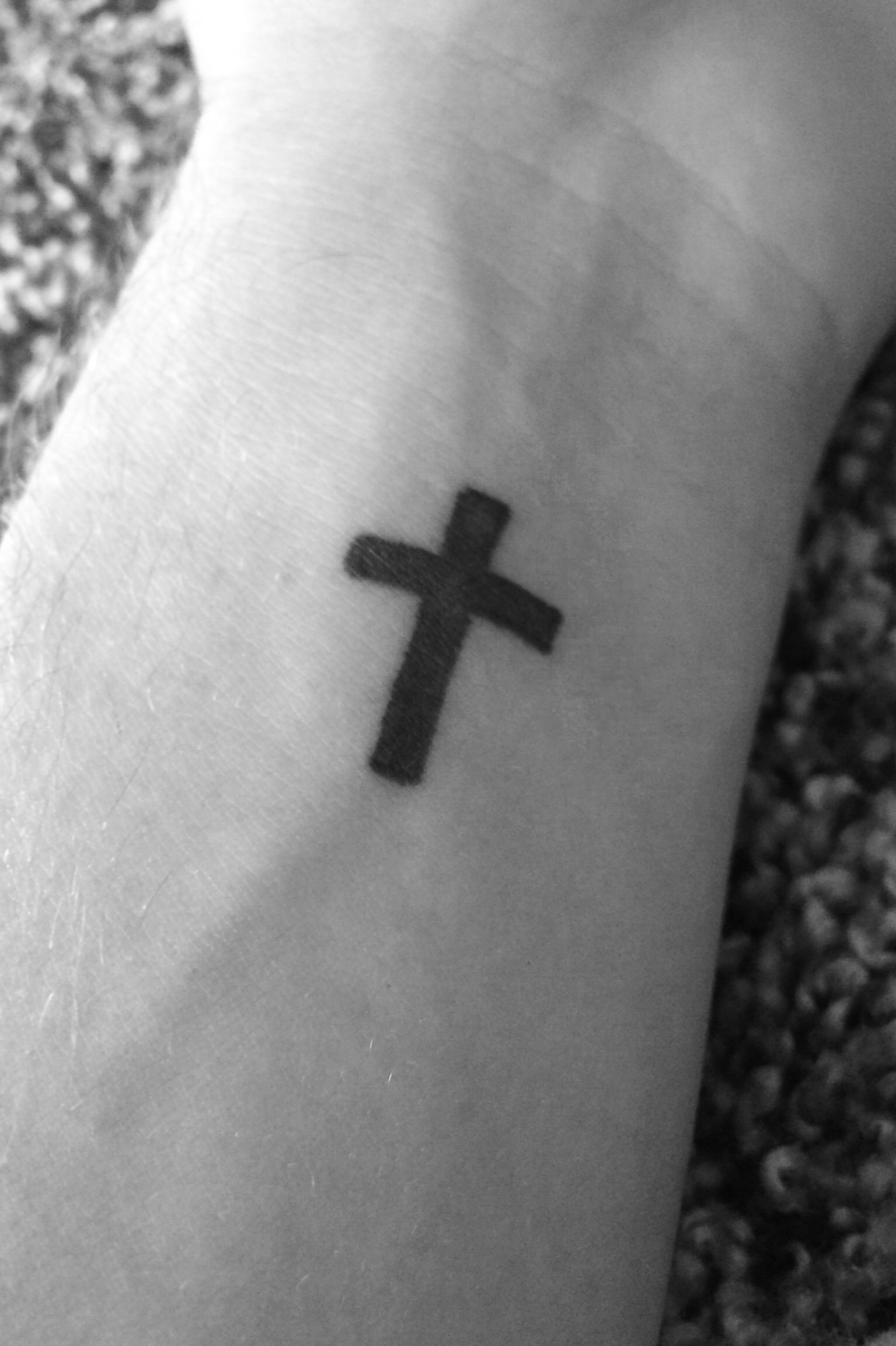 ➕ Finally tatted ➕ #tattoo #cross #faith