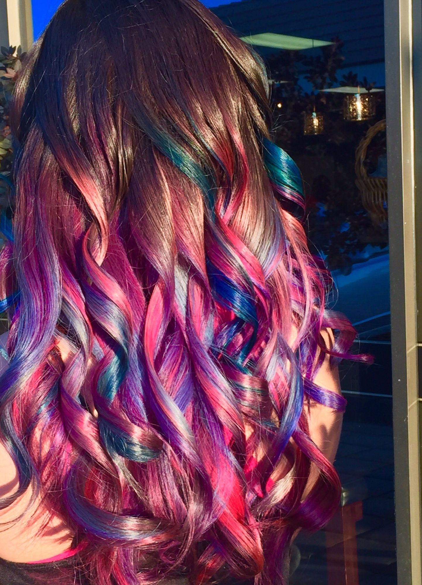 multicolored hair … | rainbow in 2018…