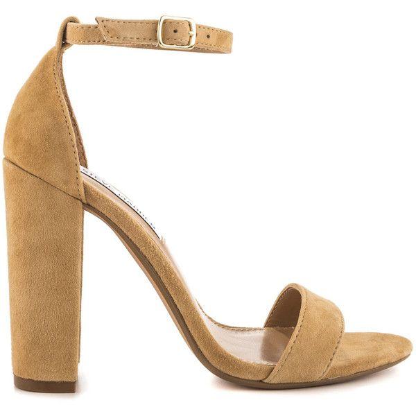 New Look 2 Part Suedette Heeled Sandal - Beige | Sandals