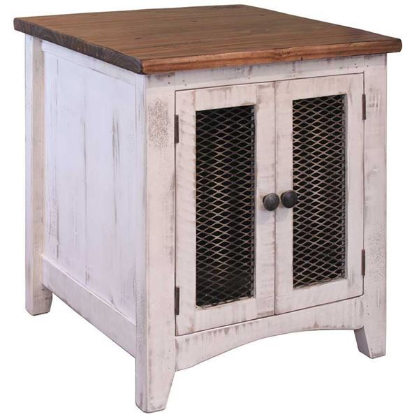 Pueblo White End Table By Artisan Home By IFD Is Now Available At American  Furniture Warehouse