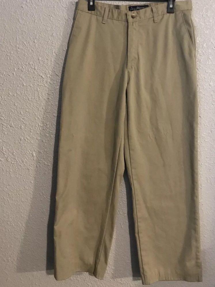 40cc1486 George Strait Cowboy Cut Collection Mens Khaki Pants Size 33 X 38 Flat Dress  #fashion