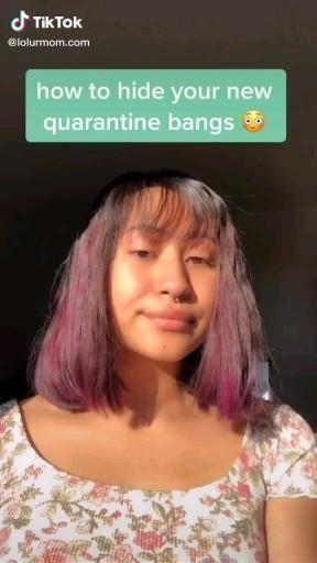 How To Hide Bangs By Lolurmom Com Video Hide Bangs Short Hair With Bangs Aesthetic Hair