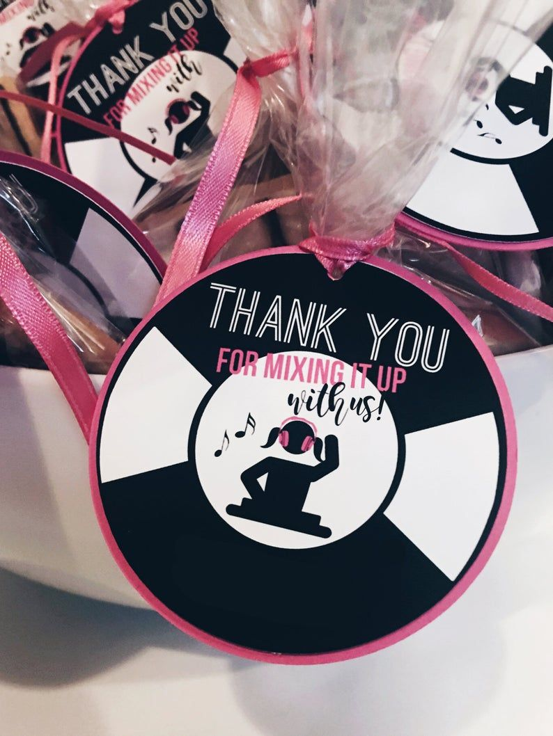 Party Packs Available NEON GLOW PARTY Happy Birthday Party or Baby Shower Favor Tags One Dozen 12