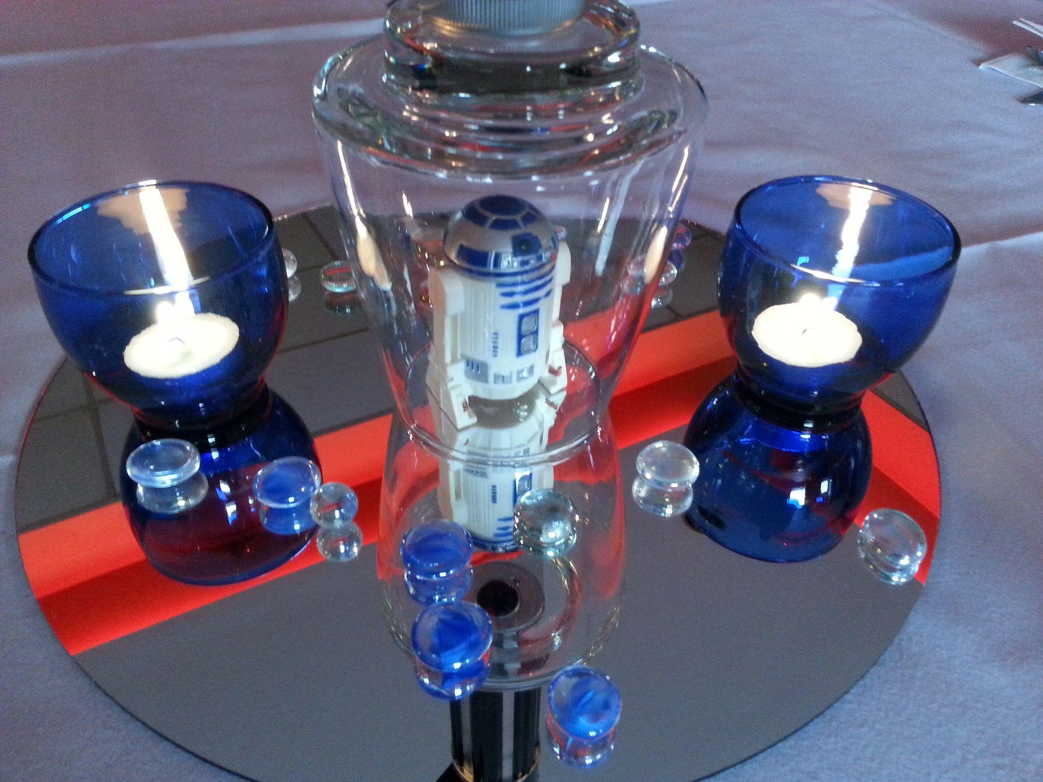 Google themes star wars - Star Wars Theme Centerpiece R2d2 Credit C My Style Event Planning Llc
