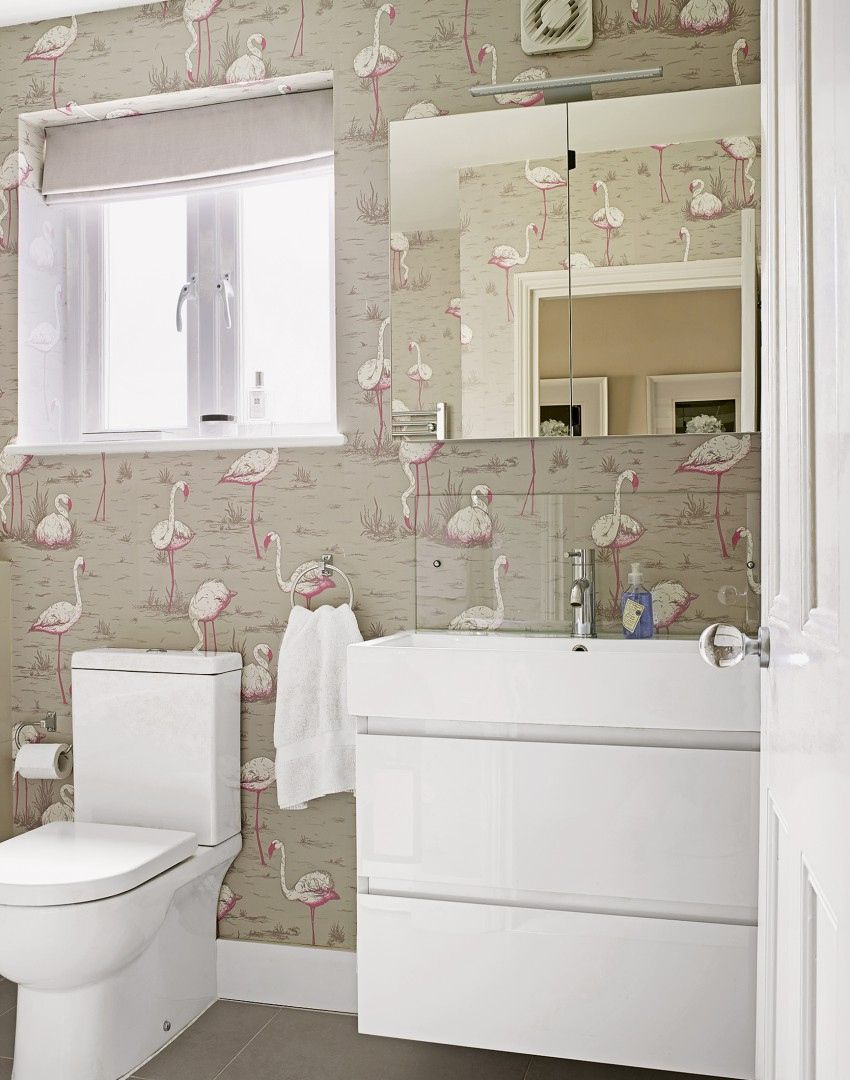 100+ Bold Wallpaper Small Bathroom - Lowes Paint Colors Interior ...