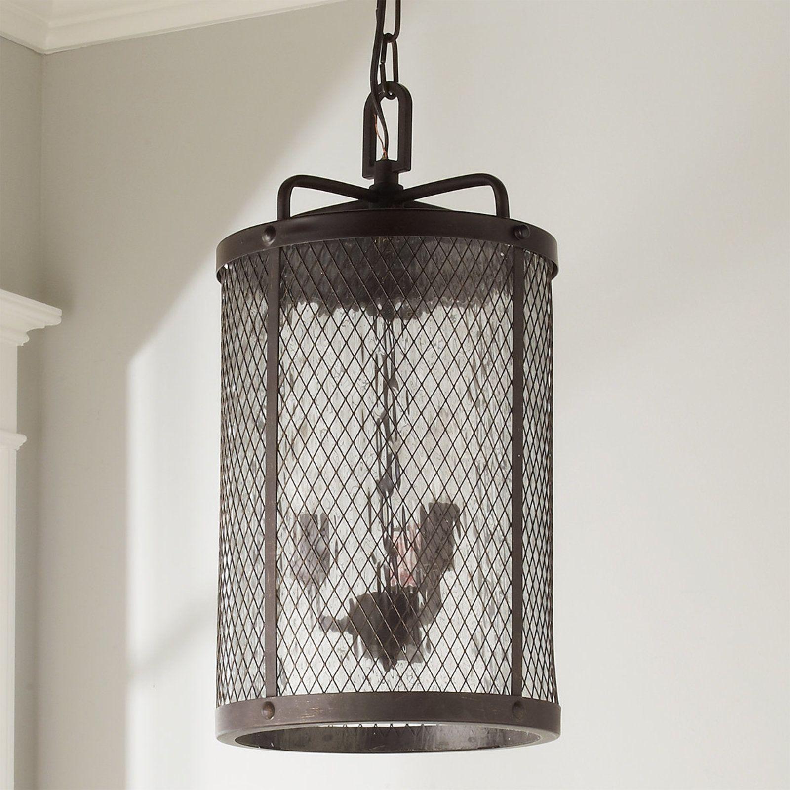 Mesh Cylinder Outdoor Hanging Lantern | Outdoor hanging lanterns ...