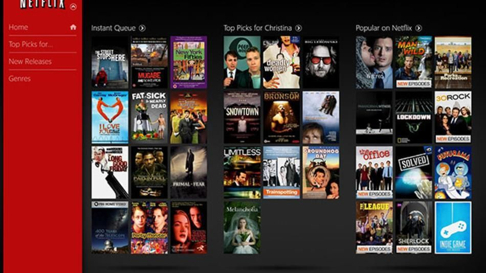 Netflix Arrives on Windows 8 Netflix app, Netflix, Windows 8