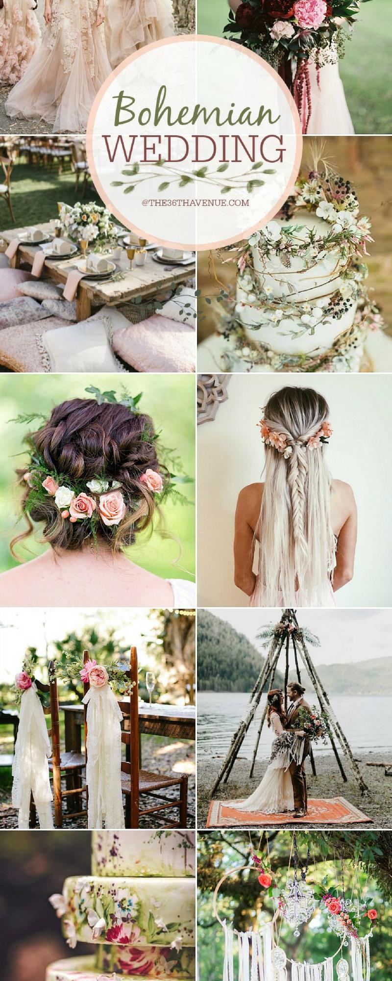 bohemian wedding ideas - diy boho chic wedding | perfect