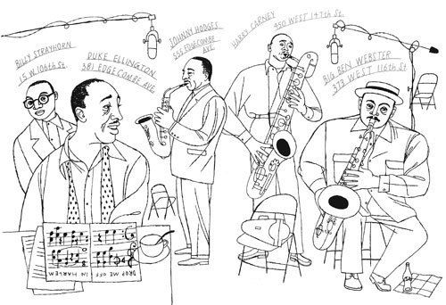Paul Rogers Jazz Musicians Coloring Page For The Studio Museum