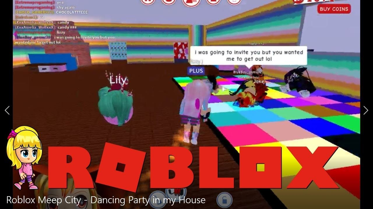 Roblox Meep City Dance Party In My House City Dance Roblox Dance