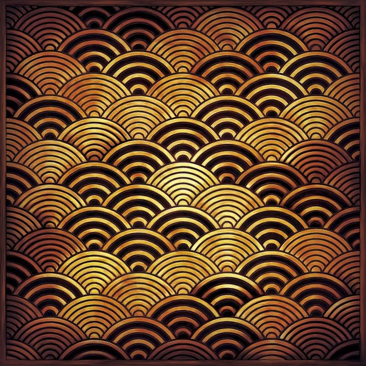 Japanese traditional waves pattern, seigaiha 青海波   Μοτίβα ...