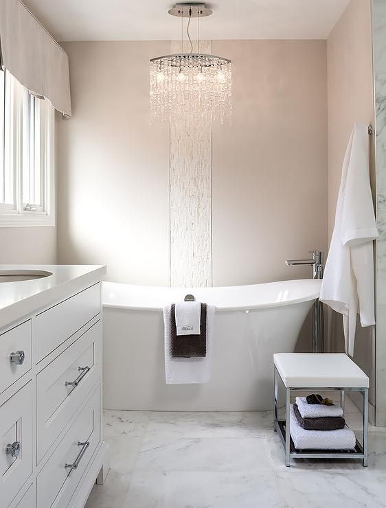 Gorgeous bathroom featuring a freestanding tub crystal for Gorgeous bathroom designs