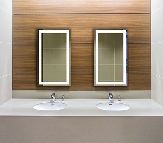 Amazon Com Lighted Led Frameless Backlit Wall Mirror Polished