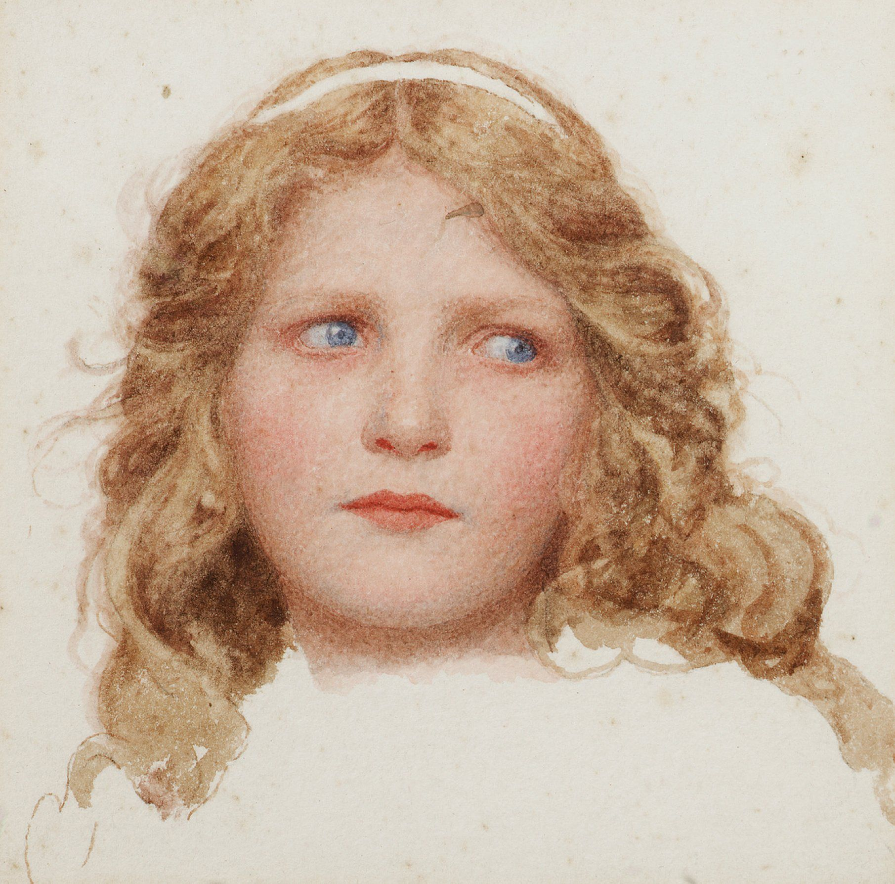 George Lawrence Bulleid (1858-1933)   A Head Study Of A Young Girl