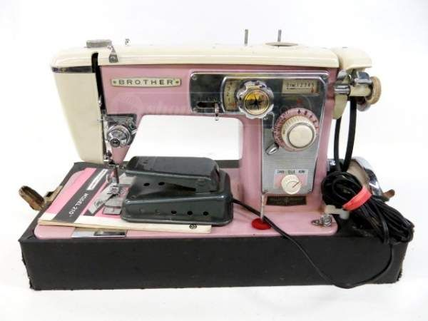 Brother Model 210 Pink Sewing Machine