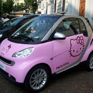 Hello Kitty Making The Smart Car Look A Little Less