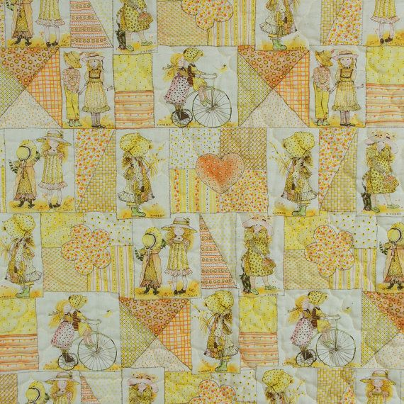 Holly Hobbie Comforter Quilt Vintage 1970s Girl S