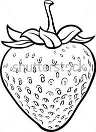 Fruit Clipart Black And White Fruit Coloring Pages Coloring Books Strawberry Drawing