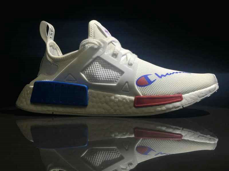 1f1d94d4d1d 2018 Real Unisex Champion x Adidas NMD XR1 White Blue Red BA7768 Shoe