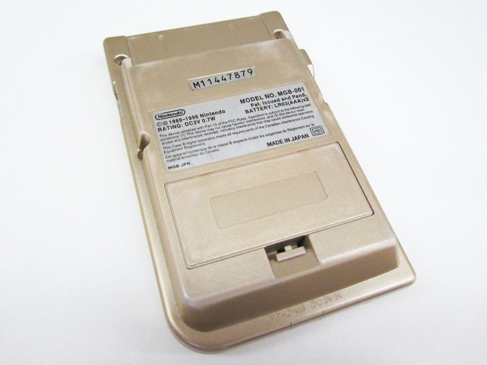 Game Boy Pocket Gold Console MGB 001 Retro Handheld 879